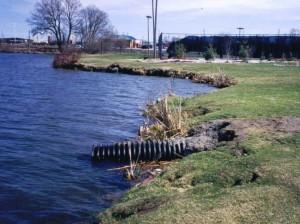 eroding shoreline